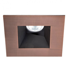 Black WAC Lighting R3ASDT-N830-BKWT Aether Square Trim with LED Light Engine Narrow 25 Beam 3000K Soft White