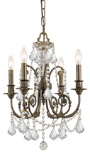 Crystorama 5114-EB-CL-MWP - Regis 4 Light Clear Crystal Bronze Mini Chandelier
