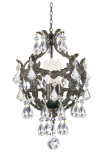 Crystorama 5193-EB-CL-SAQ - Legacy 3 Light Clear Spectra Crystal Bronze Mini Chandelier