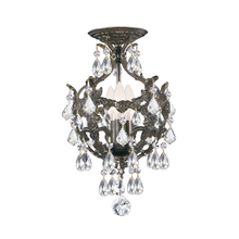 Crystorama 5193-EB-CL-SAQ_CEILING - Legacy 3 Light Clear Spectra Crystal Bronze Ceiling Mount
