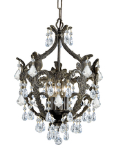 Crystorama 5195-EB-CL-MWP - Legacy 5 Light Clear Crystal Bronze Mini Chandelier