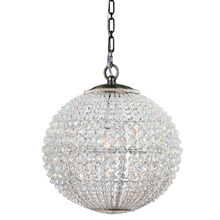 Crystorama 6754-AB - 1 Light Antique Brass Glam Mini Chandelier Draped In Hand Cut Crystal Beads