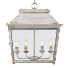 Golden 0804-4P AI - Abingdon 4-Light Pendant in Antique Ivory