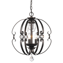 Golden 1323-3P EBB - Ella 3 Light Pendant in Etruscan Bronze