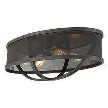 "Golden 3167-FM24 EB-EB - Colson 24"" Flush Mount in Etruscan Bronze with Etruscan Bronze Shade"