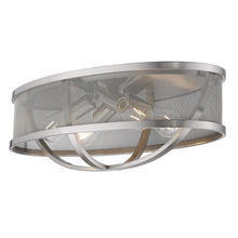 "Golden 3167-FM24 PW-PW - Colson 24"" Flush Mount in Pewter with Pewter Shade"