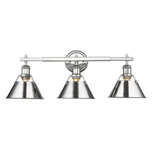 Golden 3306-BA3 CH-CH - Orwell CH 3 Light Bath Vanity in Chrome with Chrome Shade