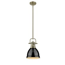 Golden 3604-S AB-BK - Small Pendant with Rod