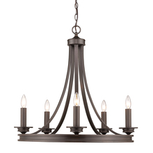 Golden 3863-5 RBZ - Saldano 5-light Chandelier in a Rubbed Bronze finish