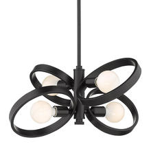 Golden 8330-4 BLK - Sloane 4-Light Chandelier in Black