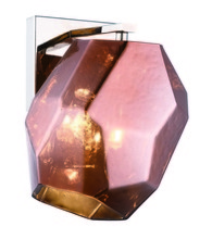 Elegant 4002W5PNCP - 4002 Gibeon Collection Wall Light D:5.5in H:9.5in E:7.9in Lt:1 Polished Nickel + Copper shade Finish