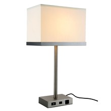 Elegant TL3011 - Brio Collection 1-Light Vintage Nickel Finish Table Lamp